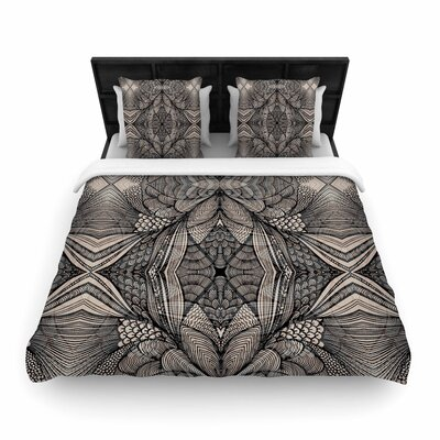 Gill Eggleston Fantazia Black Woven Duvet Cover Size: Twin