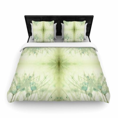 Ginkelmier Dandelion Dreams Woven Duvet Cover Size: King