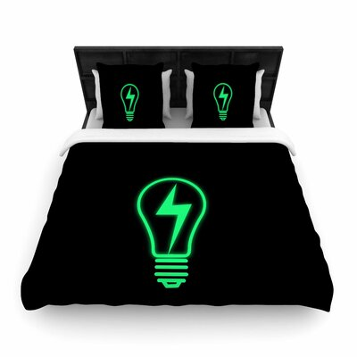 Thunder Bulb Woven Duvet Cover Size: King