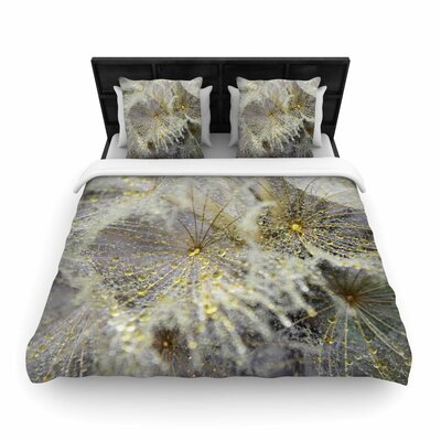 Ginkelmier Golden Dew on Dandelio Woven Duvet Cover Size: King