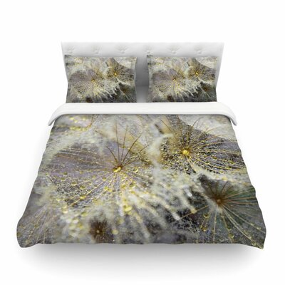 Ginkelmier Golden Dew on Dandelion Featherweight Duvet Cover Size: King