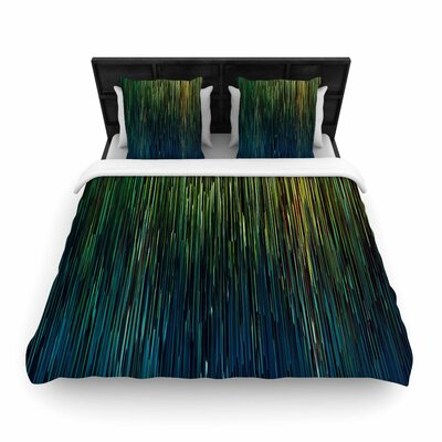 Ginkelmier Planet Pixel  Digital Woven Duvet Cover Size: Twin, Color: Blue/Yellow