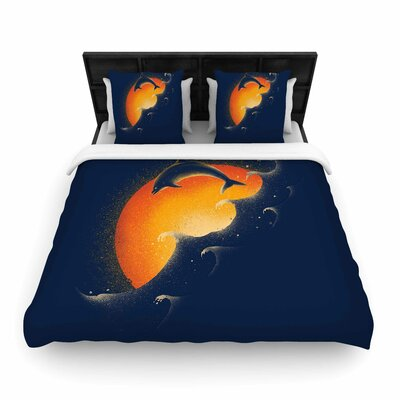 Welcomes Sunrise Woven Duvet Cover Size: Full/Queen