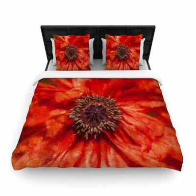 Ginkelmier Poppy Floral Woven Duvet Cover Size: King