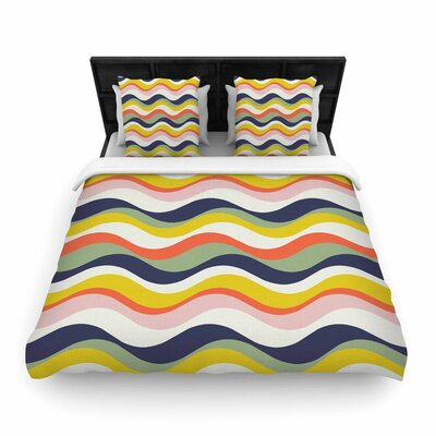 Gukuuki Rainbow Stripes Stripe Woven Duvet Cover Size: Twin