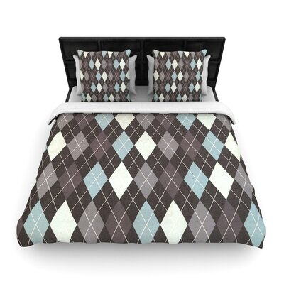 Heidi Jennings Argyle Woven Duvet Cover Size: Full/Queen