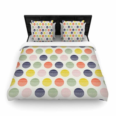 Gukuuki Rainbow Dots Vector Woven Duvet Cover Size: Full/Queen