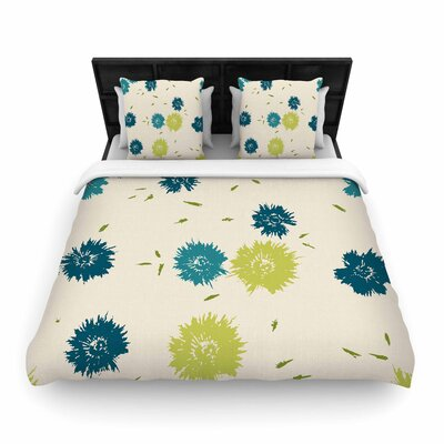 Gukuuki Blue Mollie Woven Duvet Cover Size: Full/Queen