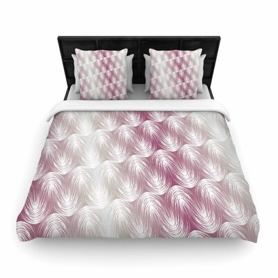 Gukuuki Stripe Palms Woven Duvet Cover Size: Twin
