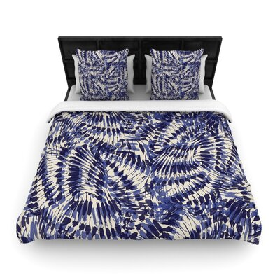 Gukuuki Iggy Palms Woven Duvet Cover Size: King