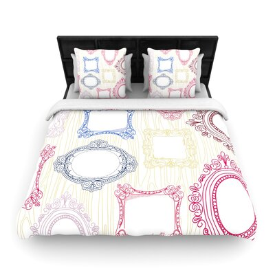 Heidi Jennings Ive Been Framed Woven Duvet Cover Size: Full/Queen