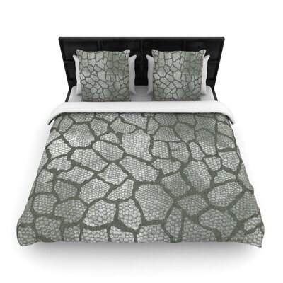 Heidi Jennings Gray Snake Skin Woven Duvet Cover Size: King