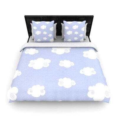 Heidi Jennings Happy Clouds Woven Duvet Cover Size: Full/Queen