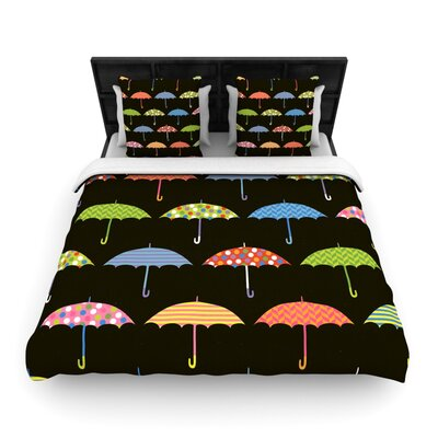 Heidi Jennings Umbrella Woven Duvet Cover Size: Twin