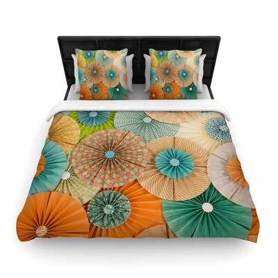 Heidi Jennings Summer Party Woven Duvet Cover Size: King