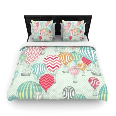 Heidi Jennings Hot Air Balloons Woven Duvet Cover Size: Full/Queen