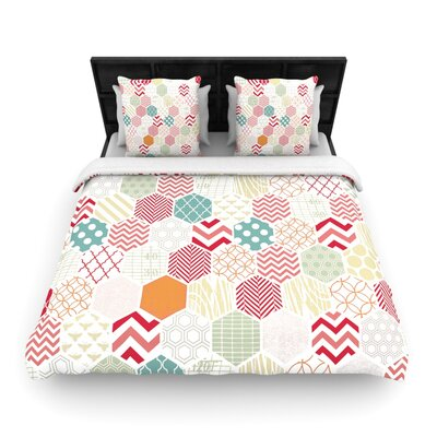 Heidi Jennings Geo Pastel Geometric Woven Duvet Cover Size: Full/Queen