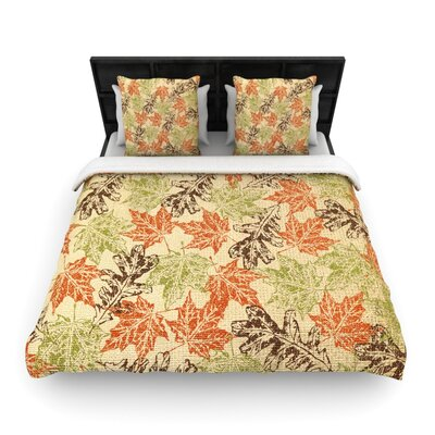 Heidi Jennings Leaf it to Me Woven Duvet Cover Size: Twin