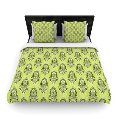Holly Helgeson Deco Flourish Woven Duvet Cover Size: Twin