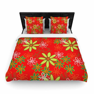 Holly Helgeson Daisy Mae Floral Woven Duvet Cover Size: King