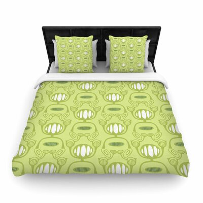 Holly Helgeson Flower Power Woven Duvet Cover Size: Twin