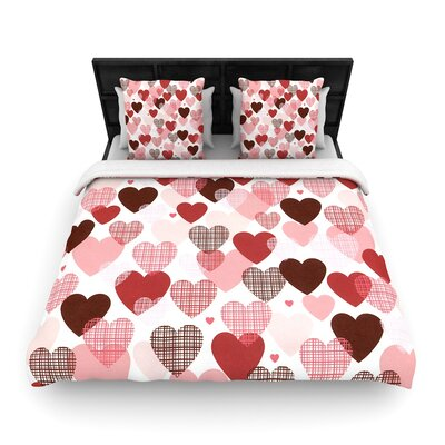 Heidi Jennings Love Woven Duvet Cover Size: Full/Queen