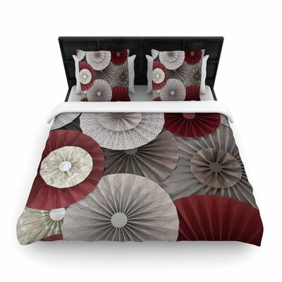 Heidi Jennings Merlot Abstract Woven Duvet Cover