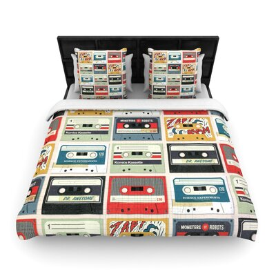 Heidi Jennings Retro Tape Woven Duvet Cover Size: King