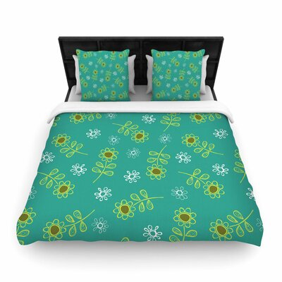 Holly Helgeson Ditsy Daisy Woven Duvet Cover Size: King