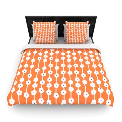 Heidi Jennings Orange You Cute Tangerine Woven Duvet Cover Size: Twin