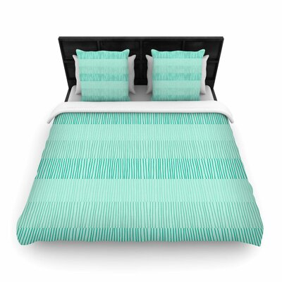 Holly Helgeson Mod Grass Woven Duvet Cover Size: King