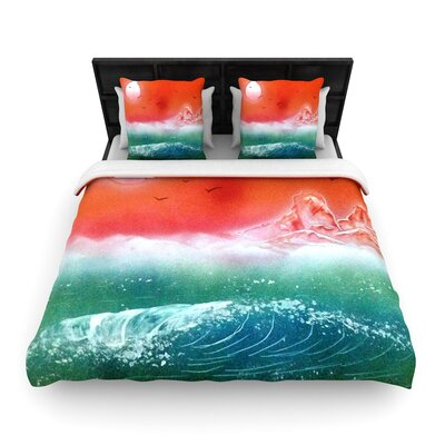 Infinite Spray Art Dream Seascape Woven Duvet Cover Size: King