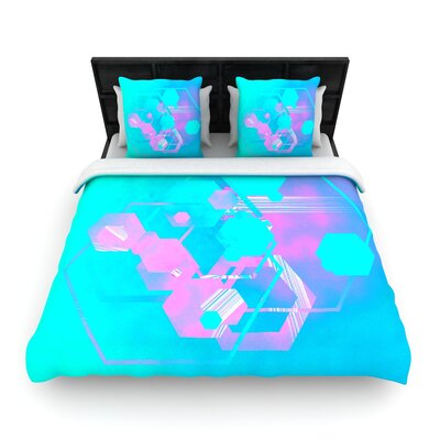 Infinite Spray Art Emersion Woven Duvet Cover Size: King