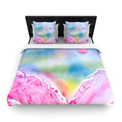 Infinite Spray Art Hideaway Woven Duvet Cover Size: Full/Queen