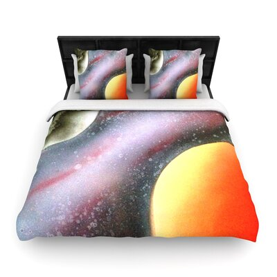 Infinite Spray Art Alignment Woven Duvet Cover Size: King