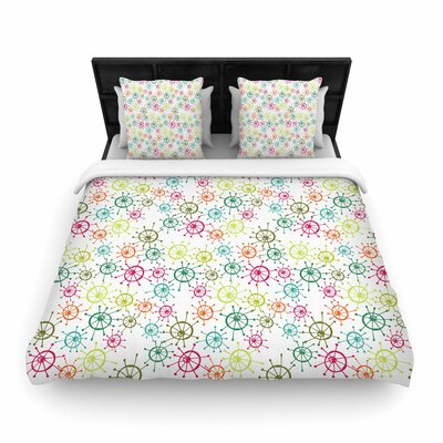 Holly Helgeson Mod Flower Burst Woven Duvet Cover Size: King