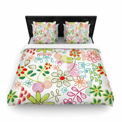 Holly Helgeson Wildflower Woven Duvet Cover Size: King