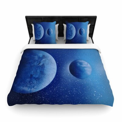Infinite Spray Art 'Interplanetary Alignments' Mixed Media Woven Duvet Cover Size: Full/Queen