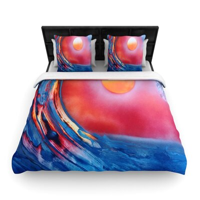 Infinite Spray Art Ideal Barrel Woven Duvet Cover Size: Twin