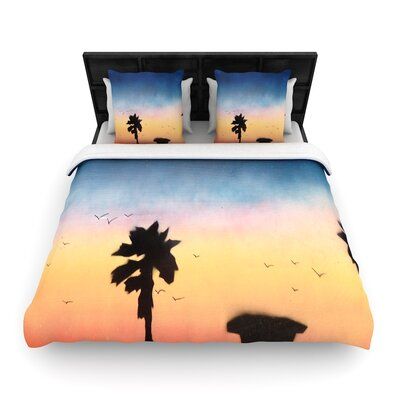 Infinite Spray Art Carlsbad Sunset Painting Woven Duvet Cover Size: Twin