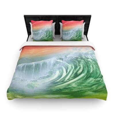 Infinite Spray Art Cant Get Enough Woven Duvet Cover Size: King