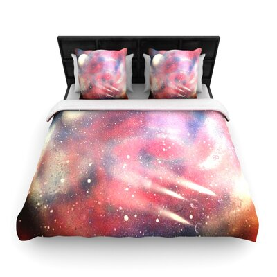 Infinite Spray Art Cascade Swirl Woven Duvet Cover Size: Twin