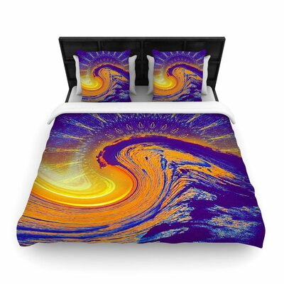 Infinite Spray Art Devreux Woven Duvet Cover Size: King