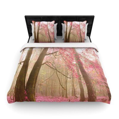 Iris Lehnhardt Atmospheric Autumn Woven Duvet Cover Size: King