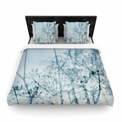 Iris Lehnhardt Atmospheric Blue Woven Duvet Cover Size: Full/Queen
