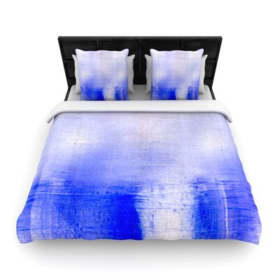 Iris Lehnhardt Blue and Lavender Woven Duvet Cover Size: Full/Queen