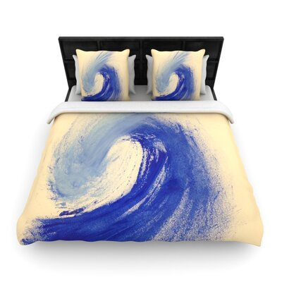 Infinite Spray Art Waveology Woven Duvet Cover Size: Full/Queen