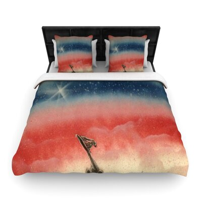 Infinite Spray Art Veterans Day Woven Duvet Cover Size: Twin