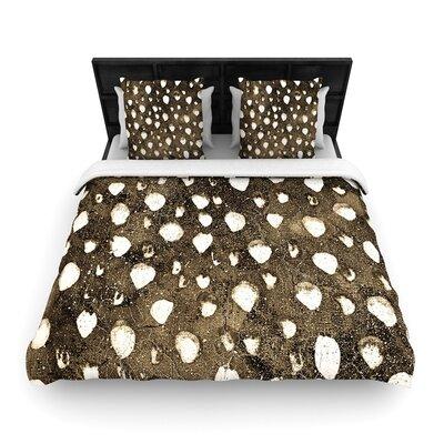 Iris Lehnhardt Dots Grunge Woven Duvet Cover Size: King