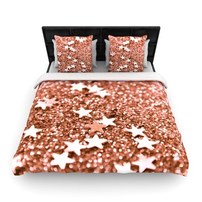 Iris Lehnhardt Copper Glaze Woven Duvet Cover Size: King